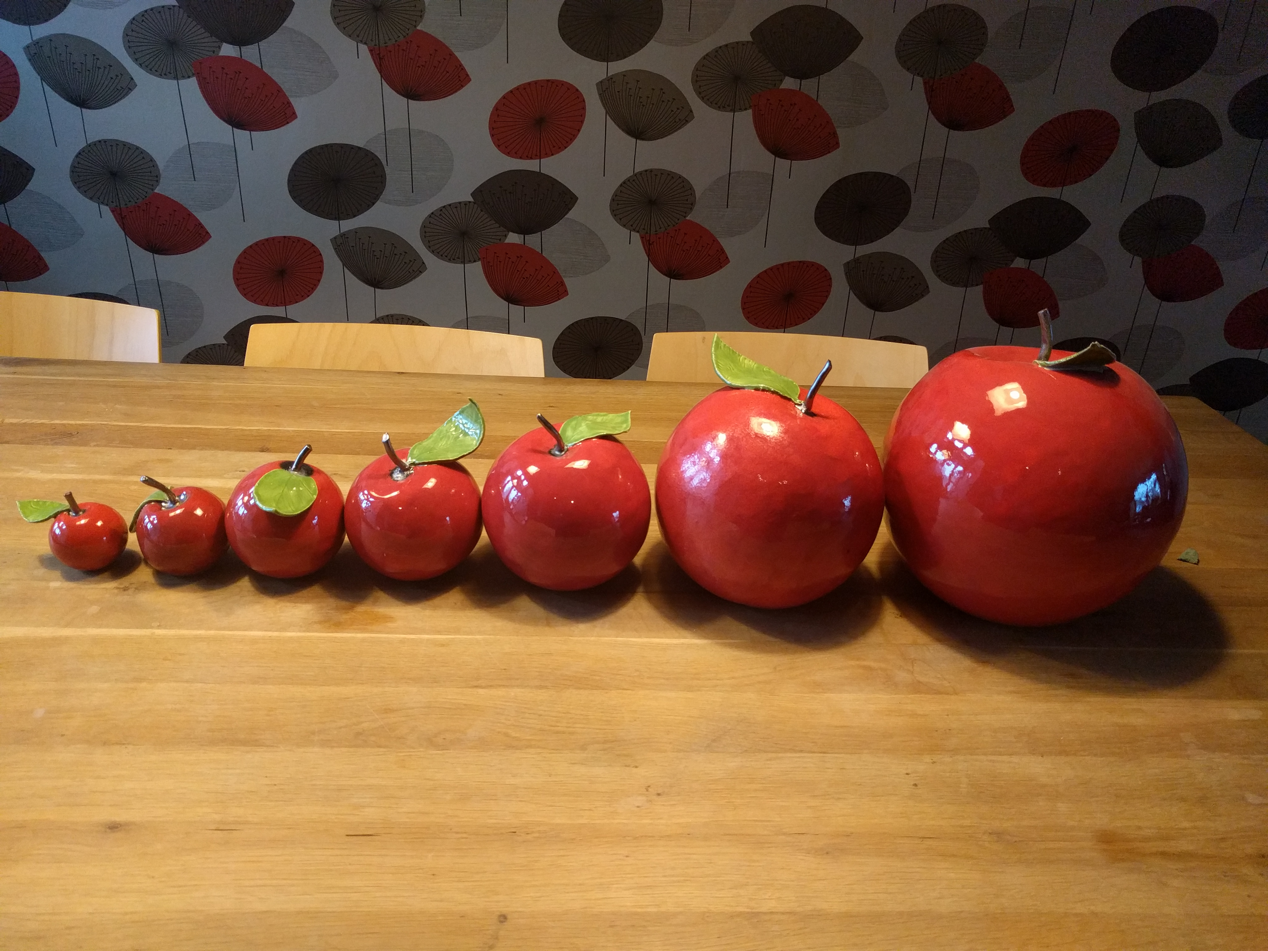 Appels in grote variërend van 6cm tot 25 cm